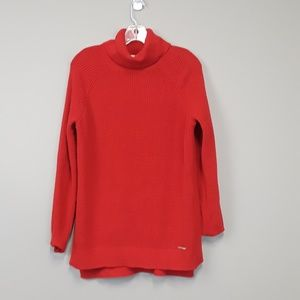 Michael Kors red turtleneck sweater size Large